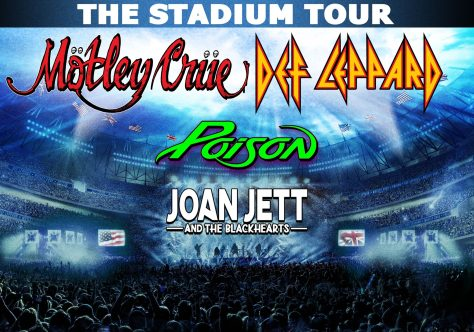 tour posters, motley crue, poison, def leppard, joan jett and the blackhearts