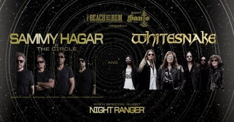 tour posters, sammy hagar, whitesnake, night ranger