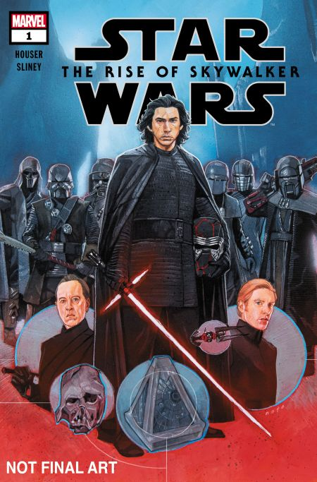 comic book covers, marvel comics, marvel entertainment, star wars, star wars comics star wars: the rise of skywalker