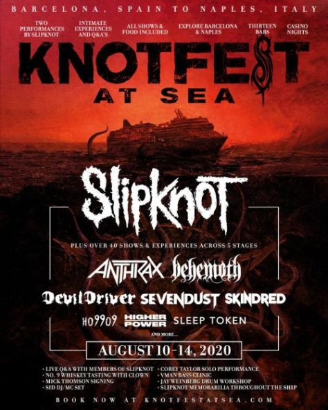 tour posters, slipknot, slipknot tour posters, knotfest at sea