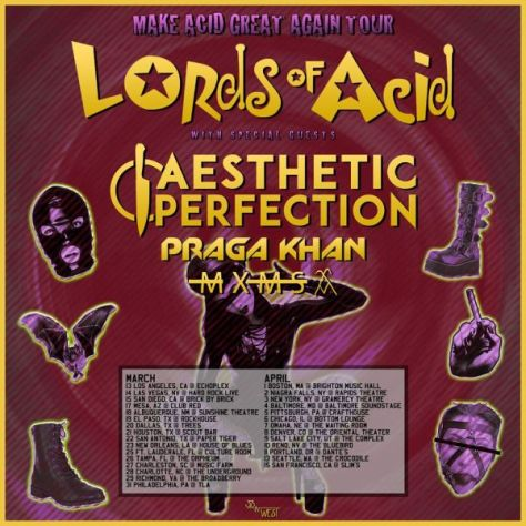 tour posters, lords of acid, lords of acid tour posters, metropolis records artists