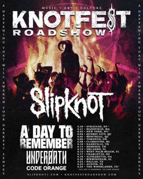 tour posters, slipknot, knotfest roadshow, slipknot tour posters
