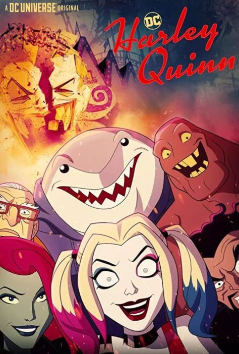 television posters, promotional posters, warner brothers animation, dc universe, harley quinn