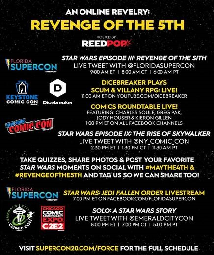 revenge of the 5th, reedpop, virtual events, reedpop special events