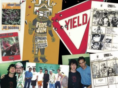 book covers, pearl jam, idw publishing