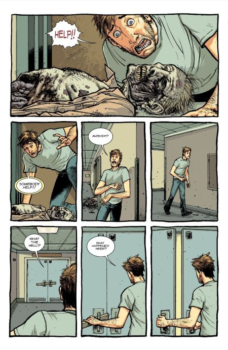 comic book preview pages, image comics, skybound entertainment, the walking dead deluxe, the walking dead deluxe preview pages
