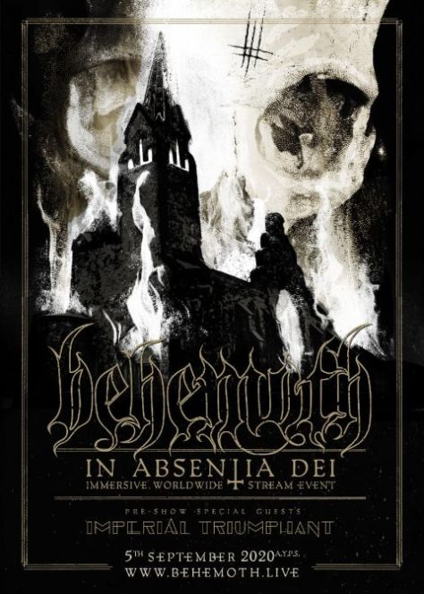 special event posters, behemoth, metal blade records, behemoth show posters