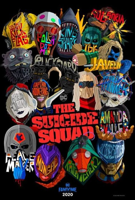 movie posters, promotional posters, warner brothers pictures, the suicide squad, the suicide squad posters