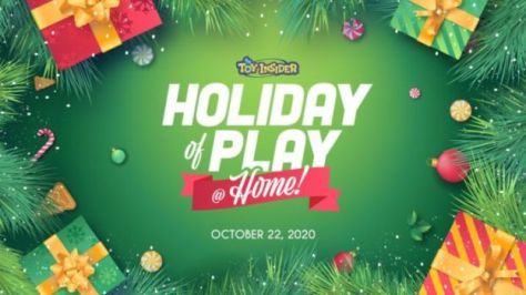 holiday of play at home banner, toy insider, pop insider