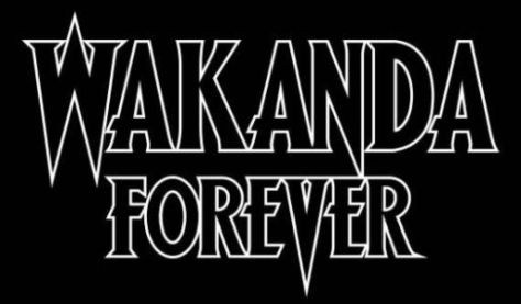 wakanda forever comics logo, marvel comics, marvel entertainment, wakanda forever logo