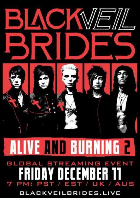 event posters, black veil brides, black veil brides event posters, sumerian records
