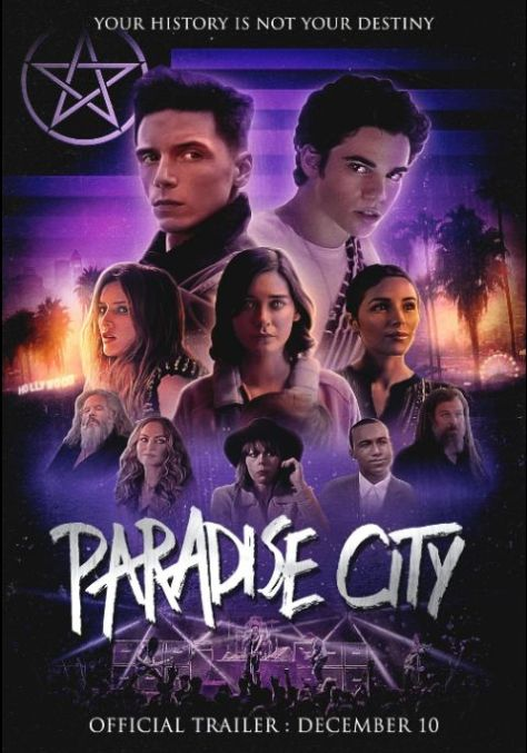 promotional posters, television posters, sumerian films, paradise city