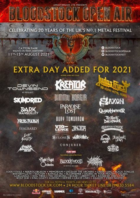 festival posters, promotional posters, bloodstock open air, bloodstock open air 2021