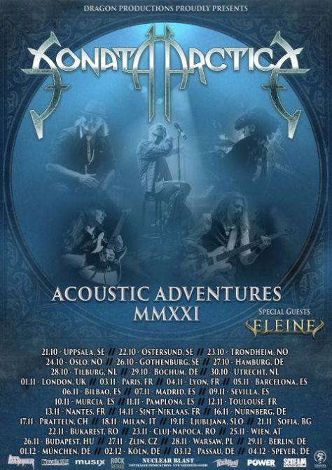 tour posters, promotional posters, sonata arctica, sonata arctica tour posters, nuclear blast records