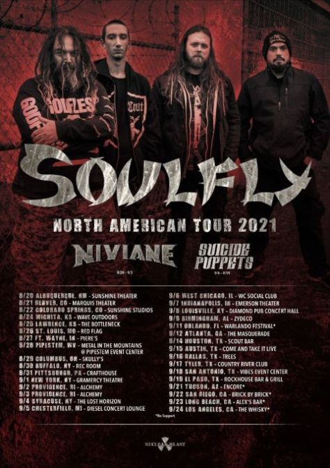tour posters, promotional posters, soulfly, soulfly posters, nuclear blast records