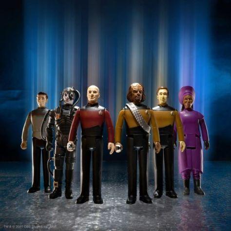 action figures, super7, reaction figures, star trek: the next generation toys, super7 reaction figures