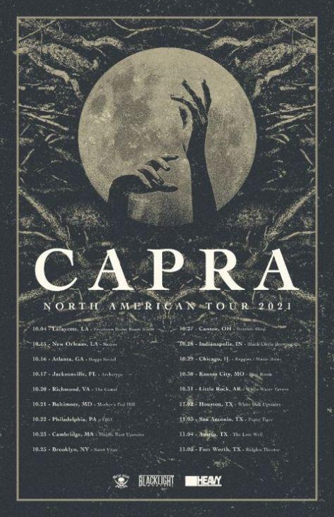 tour posters, promotional posters, metal blade records, blacklight media, capra, capra tour posters