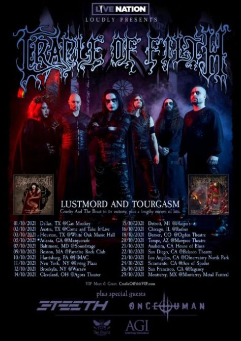 tour posters, cradle of filth, cradle of filth tour posters