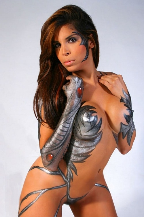 Full Body Paint Girls : paint, girls, Crazy, Beautiful, Female, Paint, Models, Pictures