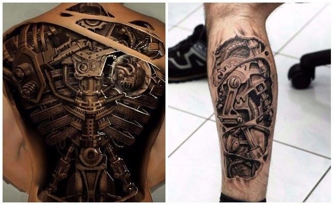 Diseños De Tatuajes Biomecánicos Y Tatuajes Biónicos Alucinantes
