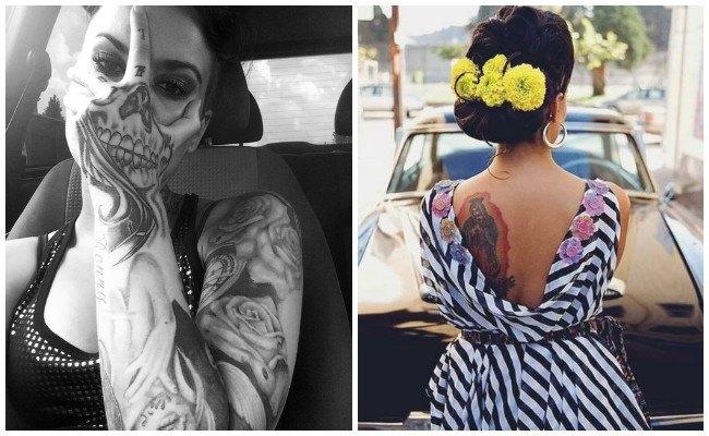 Tatuajes De Catrinas Mexicanas Santa Muerte Y Otros Tatuajes Mexicanos
