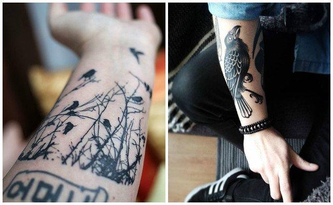 Tatuajes De Cuervos Significado Y Diseños Para Mujeres Y Hombres