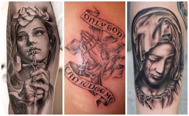 Tatuajes De Rosarios Cristianos Y De Jesucristo Para Personas De Fe