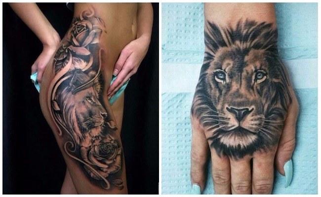 Tatuajes De Leones En El Brazo A Color Tatuajes