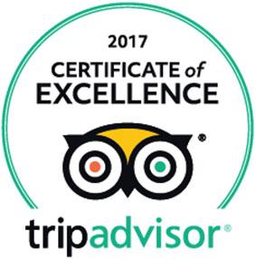 Pier Hotel Rhyl - Trip Advisor 2017 Certificate of Excellence