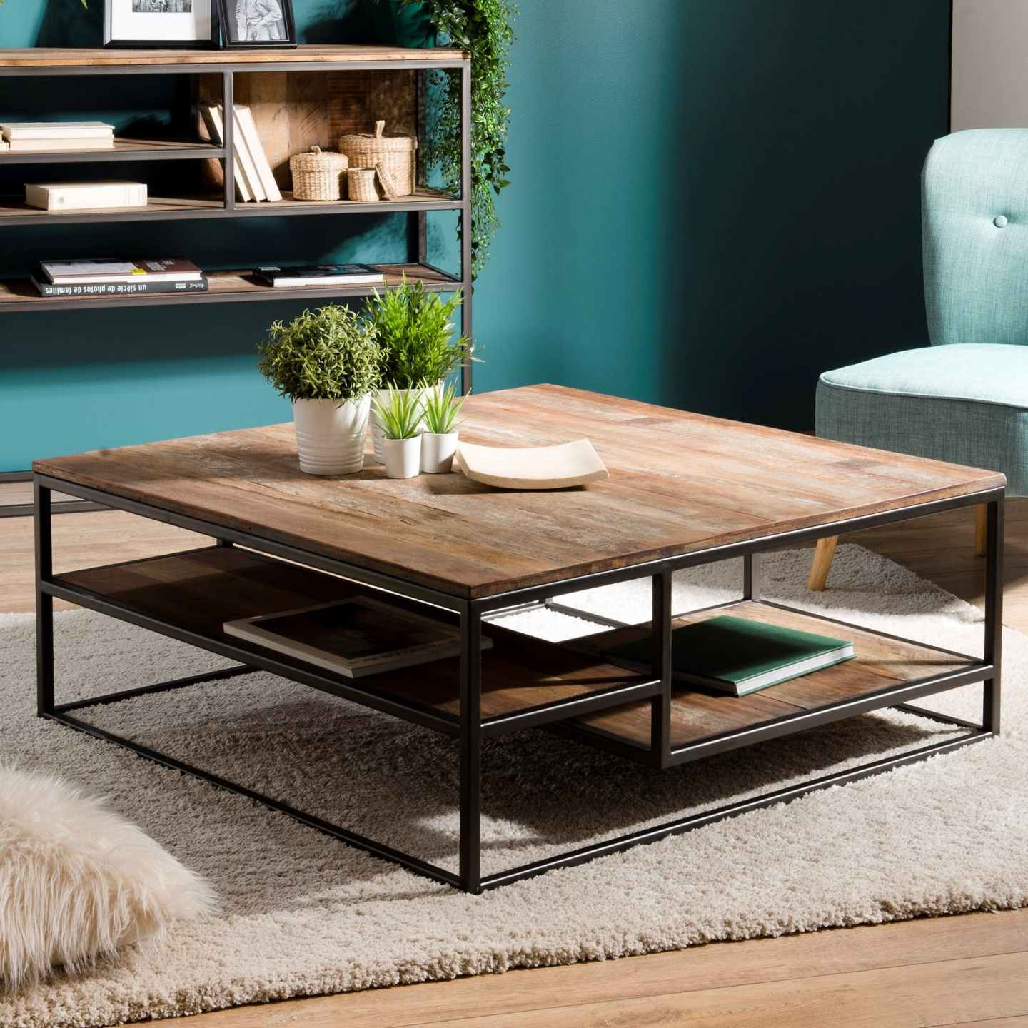 PIERIMPORT – TABLE BASSE TECK RECYCLE
