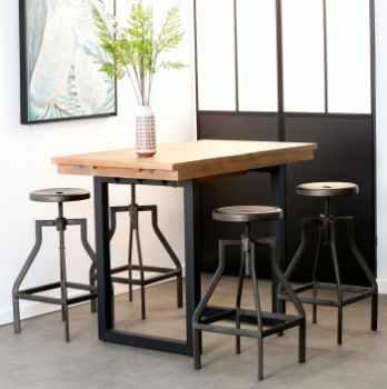 tables hautes mange debout bois