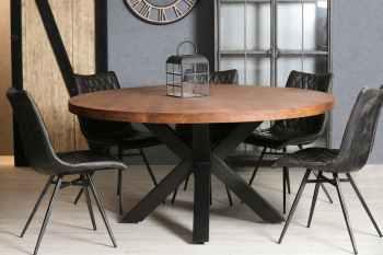 tables a manger rondes bois metal