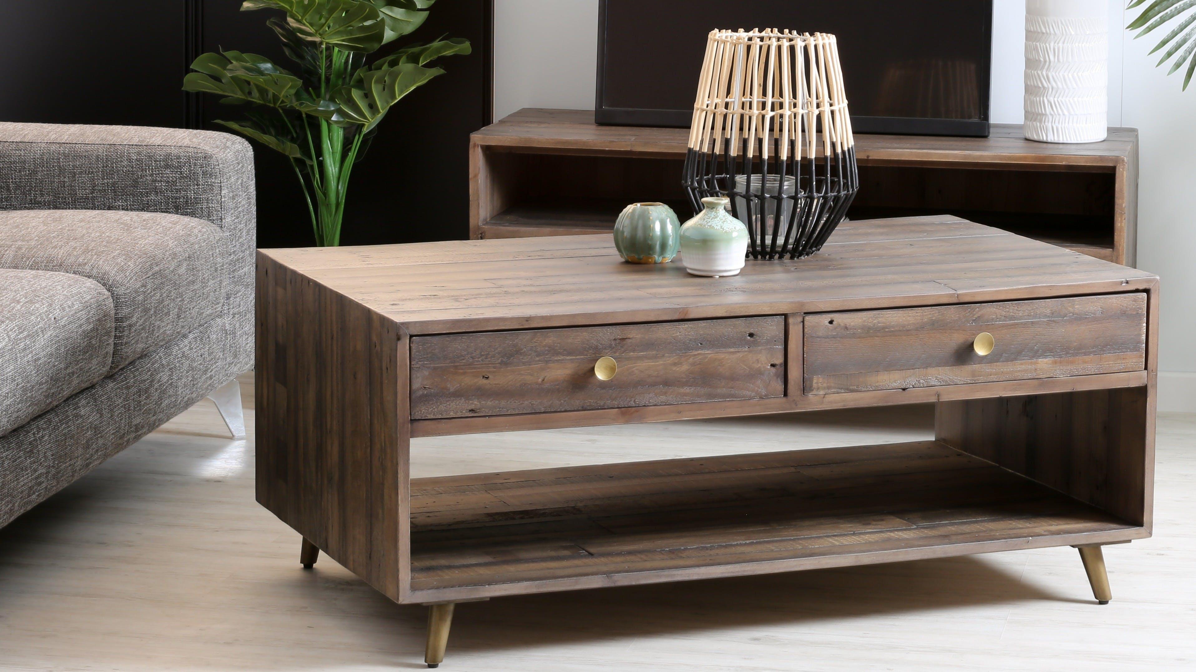 meubles de salon en bois table basse