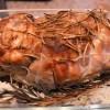 roti, roti de porc, au four, cuisson sur sel