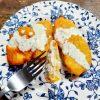 aubergines, tempura , beignets, sauce blanche,
