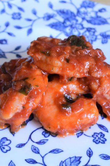 crevettes à la sauce tomates