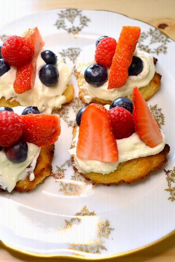 gateaux, crème, fruits