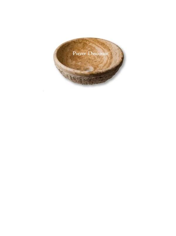 Vasque bol en travertin