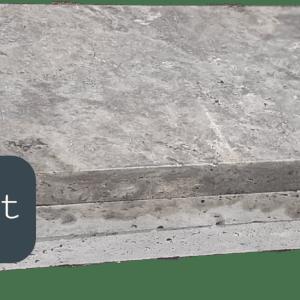 Margelle travertin silver bord droit 100x33x3cm Pierre discount