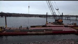 Loading railroad ties onto barge2_3.17.21
