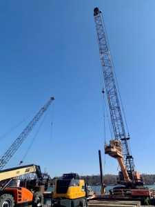 Drill Rig attached to crane_3.31.21