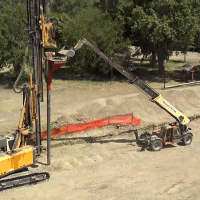 Dumping crushed rock into hopper for aggregate columns4_6.9.21