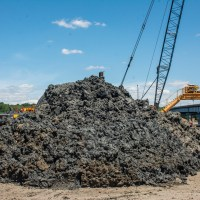 Sludge pile from drilling_6.29.21