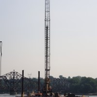 Crane with drill shaft and auger_8.3.21