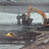 Transporting excavated material from drilling to shore_9.13.21