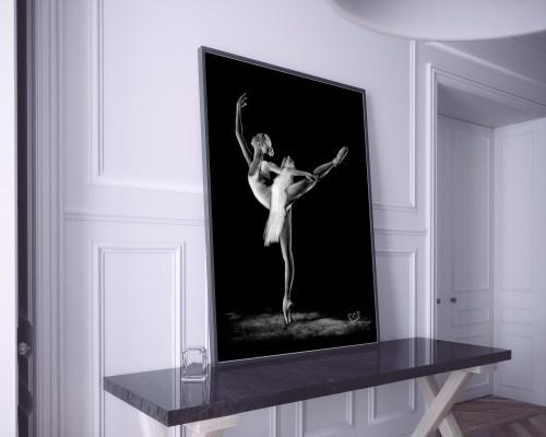 Tableau moderne danseuse classique 2 au pastel sec