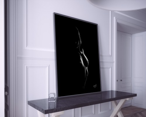 tableau moderne de femme nue 72 au pastel sec nude woman painting
