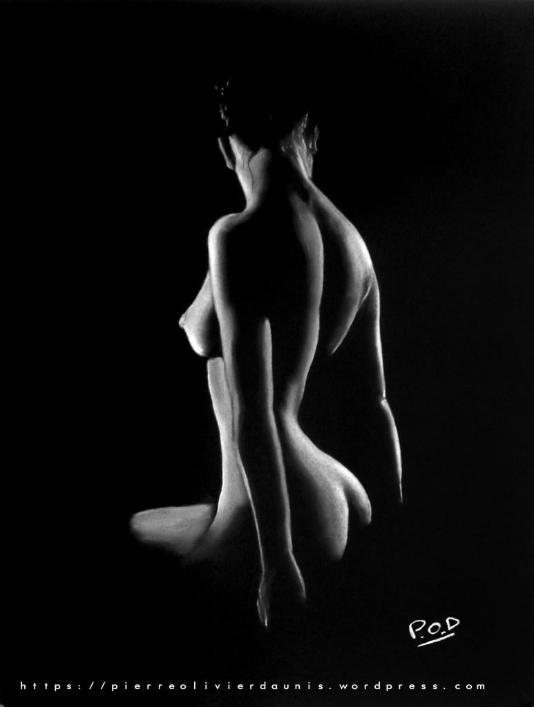 tableau de femme assise au dos nu 33 silhouette de nu féminin
