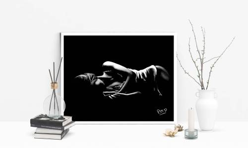 tableau moderne de femme nue 75 au pastel sec nude woman painting