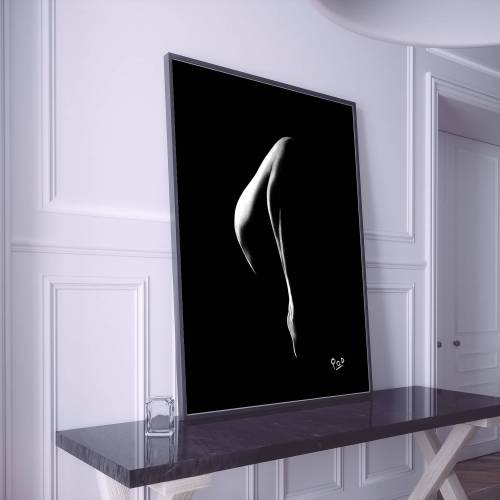 Tableau de jambe de femme nue 57 peinture moderne au pastel sec